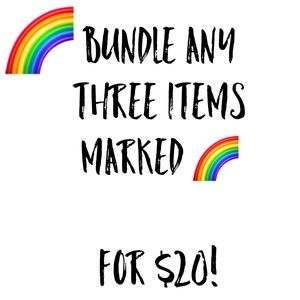 Other - 🌈 SALE! 3 items for $20